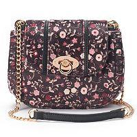 LC Lauren Conrad Macaron Floral Saddle Bag