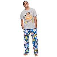 Men's Nickelodeon 90s Tee & Microfleece Lounge Pants Set