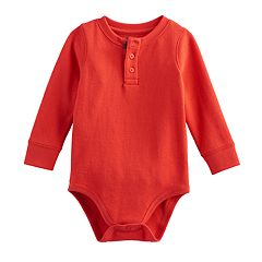 Baby Boy Jumping Beans® Thermal Elbow Patch Henley Bodysuit