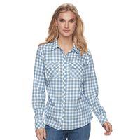 Women's Croft & Barrow® Flannel Button-Front Shirt