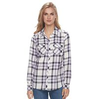 Women's Croft & Barrow® Button-Front Shirt