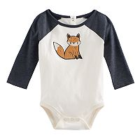 Baby Boy Jumping Beans® Soft Applique Raglan Graphic Bodysuit