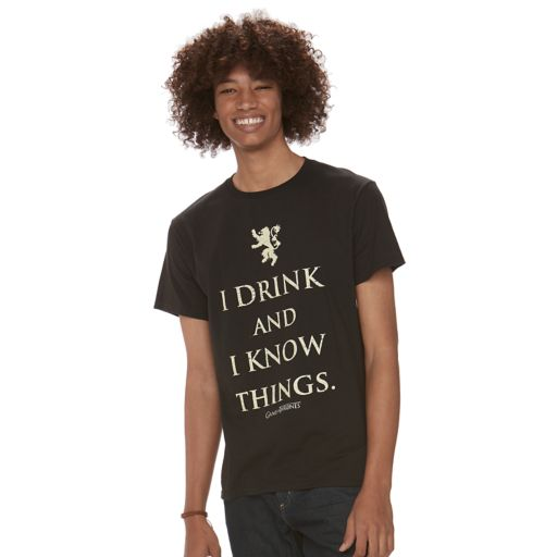 "Men's ""I Drink & I Know Things"" Tee"
