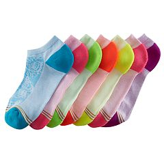 Girls 7-16 GOLDTOE 6-pack + 1 Bonus Floral No-Show Socks