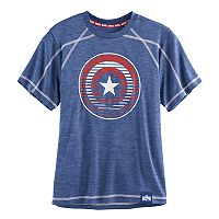 Boys 8-20 Marvel Hero Elite Captain America Shield Tee