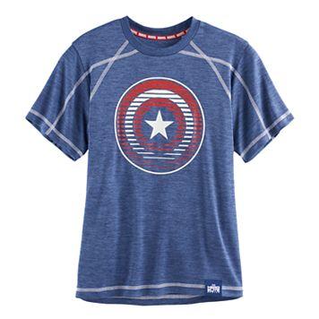 Boys 8-20 Marvel Hero Elite Captain America Shield Tee