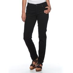 Women's Croft & Barrow® Twill Straight-Leg Pants