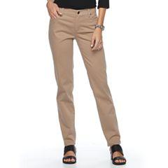 Women's Croft & Barrow® Twill Straight-Leg Pants