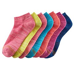 Girls 7-16 GOLDTOE 6-pack + 1 Bonus Space-Dyed Liner Socks
