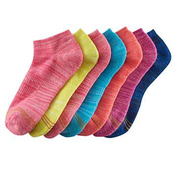 Girls 7-16 GOLDTOE 6-pack + 1 Bonus Space-Dyed Liner Socks