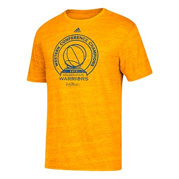 Men's adidas Golden State Warriors 2017 Conference Champions Trophy Tee