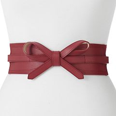 Women's Apt. 9® Faux Leather Bow Stretch Belt