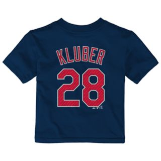 Baby Majestic Cleveland Indians Corey Kluber Name and Number Tee