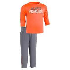 Baby Boy Under Armour 'Always Fearless' Long-Sleeved Tee & Pants Set