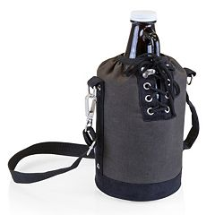 Picnic Time 64-oz. Amber Glass Growler with Tote