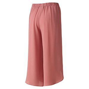 Juniors' Joe B Crepe Wrap Culottes
