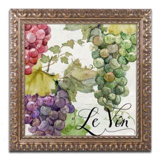 Trademark Fine Art Wines Of Paris II Ornate Framed Wall Art