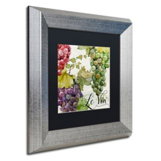 Trademark Fine Art Wines Of Paris II Silver Finish Framed Wall Art