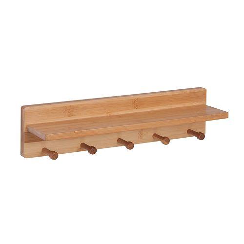 Honey-Can-Do 5-peg Wall Shelf