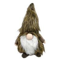 Faux-Fur Gnome Table Decor