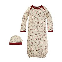 Baby Burt's Bees Baby Organic Holiday Snowflake Family Pajamas Nightgown & Cap Set