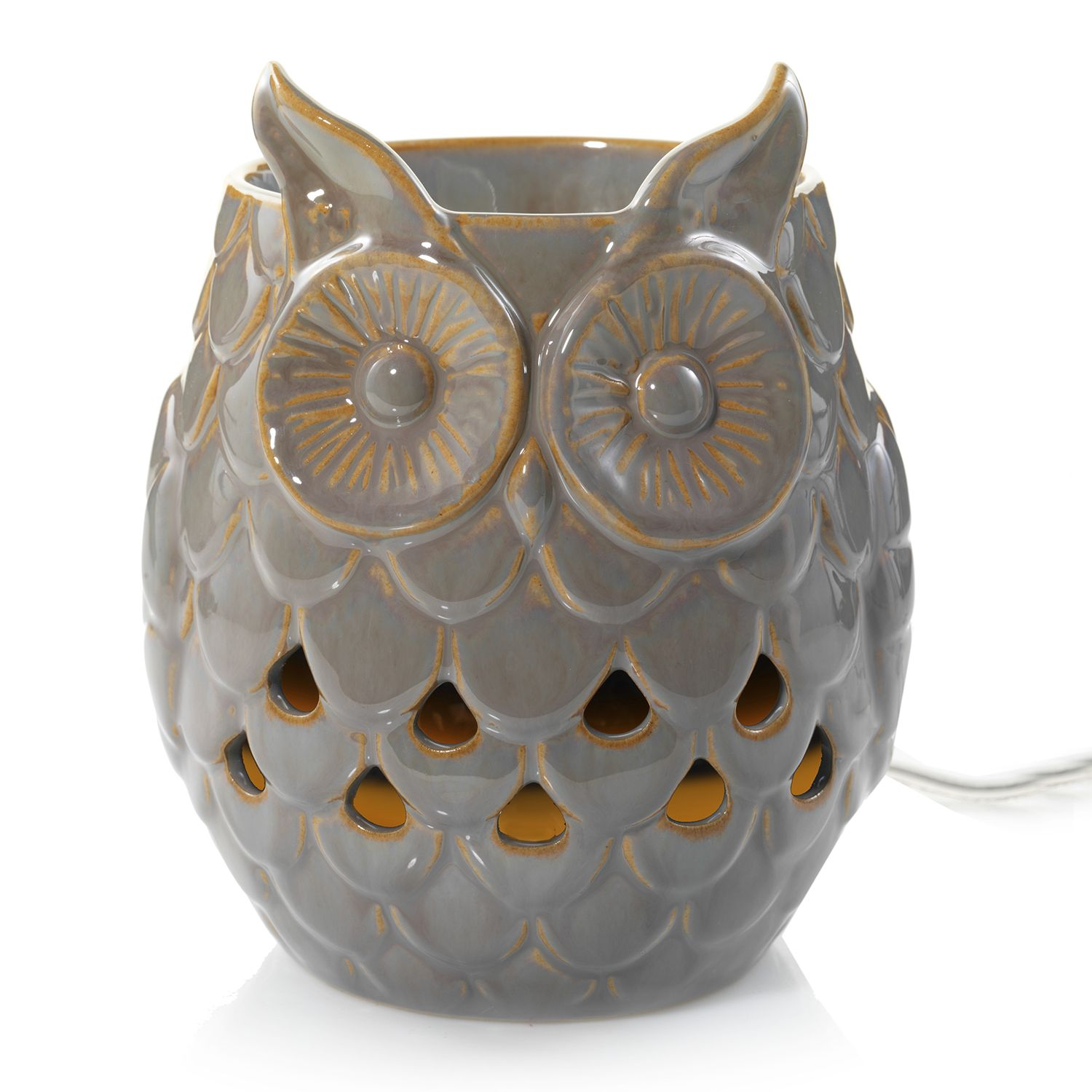 yankee candle gray owl wax melt warmer
