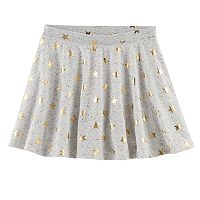 Girls 7-16 & Plus Size SO® French Terry Nep Foil Patterned Circle Skirt