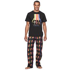 Men's Star Wars Rainbow 'The Force Is Strong' Tee & Microfleece Lounge Pants Set