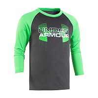 Toddler Boy Under Armour Gray Logo Raglan Tee