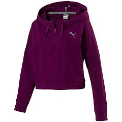 Women's PUMA Cropped French Terry Hoodie