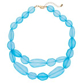 Oblong Bead Chunky Swag Necklace