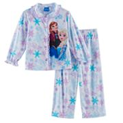 Disney's Frozen Elsa & Anna Toddler Girl 2 pc Top & Pants Pajama Set