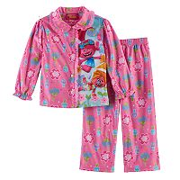 Toddler Girl DreamWorks Trolls 2 pc DJ Suki & Poppy Top & Pants Pajama Set