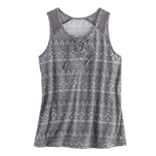 Girls 7-16 & Plus Size Mudd® Lace-Up Tank Top
