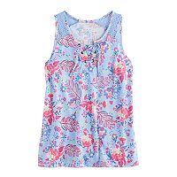 Girls 7-16 & Plus Size Mudd® Lace-Up Tank Top