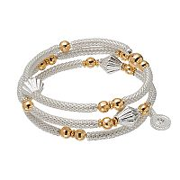 Jennifer Lopez Two Tone Beaded Mesh Coil Bracelet