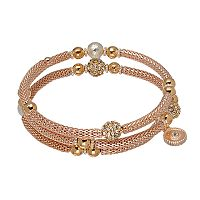 Jennifer Lopez Beaded Mesh Coil Bracelet