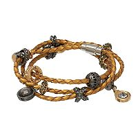 Jennifer Lopez Woven Faux Leather Wrap Bracelet