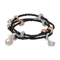 Jennifer Lopez Woven Faux Leather Wrap Bracelet