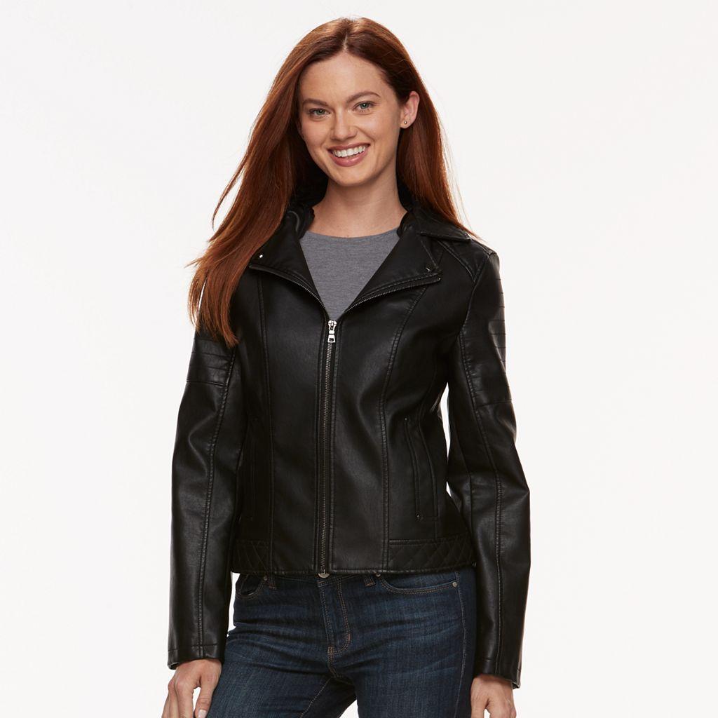 Women's Gallery Faux-Leather Jacket