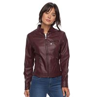 Women's Gallery Faux-Leather Moto Jacket