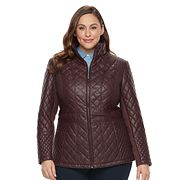 Plus Size Gallery Quilted Faux-Leather Jacket