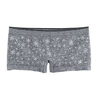 Girls 4-16 Maidenform Snowflake Pattern Seamless Minishorts