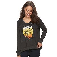 Disney's The Nightmare Before Christmas Juniors' Jack & Sally Graphic Sweatshirt