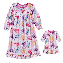 Toddler Girl My Little Pony Rainbow Dash, Shutterfly & Pinkie Pie Nightgown & Doll Gown Set