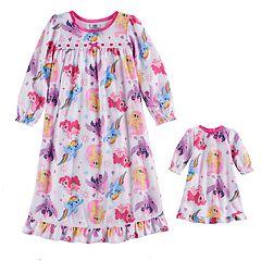 Toddler Girl My Little Pony Rainbow Dash, Shutterfly & Pinkie Pie Nightgown & Doll Gown Set