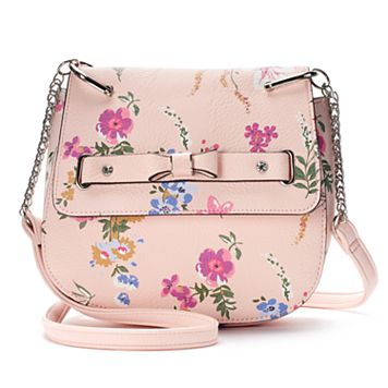 Candie's® Bow Floral Saddle Bag