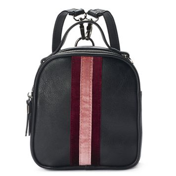 Candie's® Striped Velvet Mini Convertible Backpack