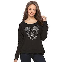Disney's Mickey Mouse Juniors' Web Face Graphic Sweatshirt