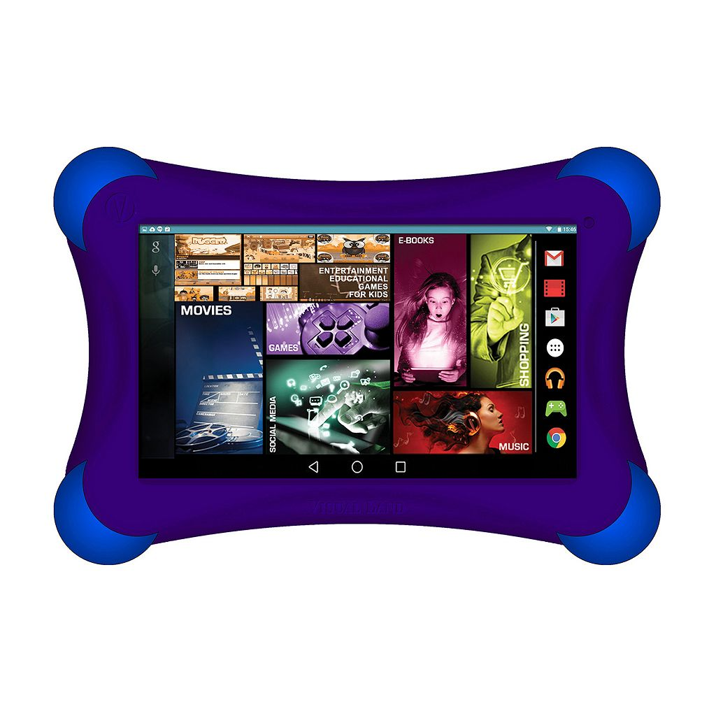 Visual Land Prestige Elite 7Ql Quad Core 16GB 7-Inch Android 5 Lollipop Tablet with Bumper (ME7QLBP16GBPNK)